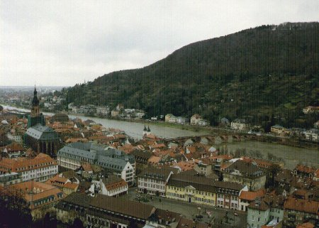View of Heidelberg from the Castle photo